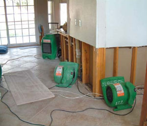 water damage restoration services actual job